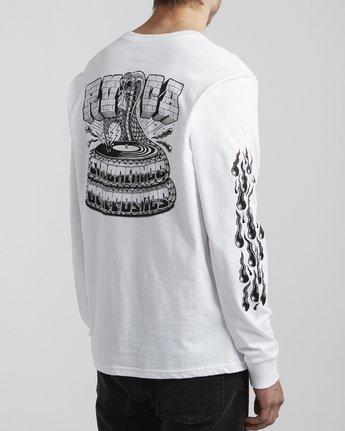 4 Martin Ander Snake - Long Sleeve T-Shirt for Men White S1LSRDRVP0 RVCA