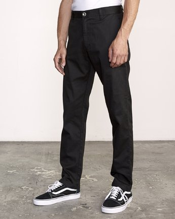 1 The Weekend Stretch - Woven Trousers for Men Black S1PTRFRVP0 RVCA