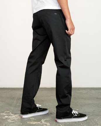 4 The Weekend Stretch - Woven Trousers for Men Black S1PTRFRVP0 RVCA