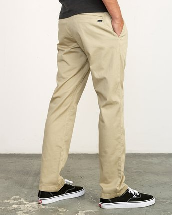 4 The Weekend Stretch - Woven Trousers for Men Green S1PTRFRVP0 RVCA