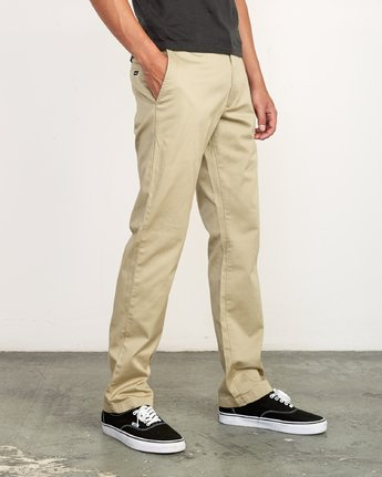 5 The Weekend Stretch - Woven Trousers for Men Green S1PTRFRVP0 RVCA
