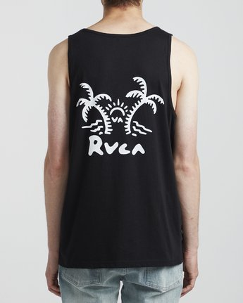1 Palmer - T-Shirt for Men Black S1SGRARVP0 RVCA