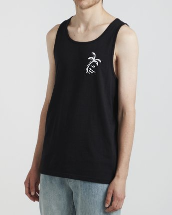 2 Palmer - T-Shirt for Men Black S1SGRARVP0 RVCA