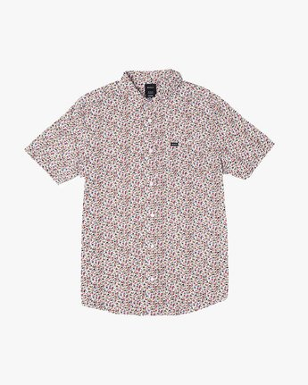 0 Bellflower - Micro Floral Shirt for Men White S1SHRFRVP0 RVCA