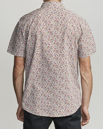 2 Bellflower - Micro Floral Shirt for Men White S1SHRFRVP0 RVCA