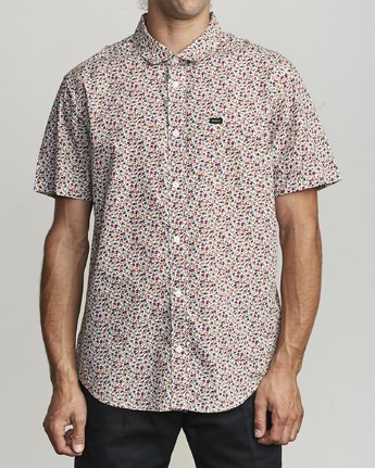 1 Bellflower - Micro Floral Shirt for Men White S1SHRFRVP0 RVCA