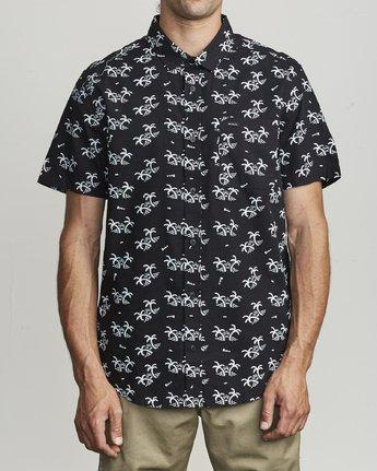 1 Easy Palms - Palm Print Shirt for Men Black S1SHRGRVP0 RVCA