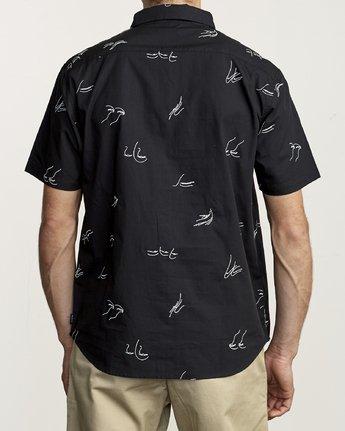 4 Johanna Olk Johanna Gestures - Short Sleeve Shirt for Short Sleeve Shirt Black S1SHRIRVP0 RVCA