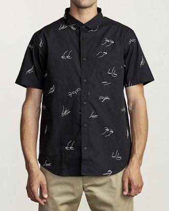 1 Johanna Olk Johanna Gestures - Short Sleeve Shirt for Short Sleeve Shirt Black S1SHRIRVP0 RVCA