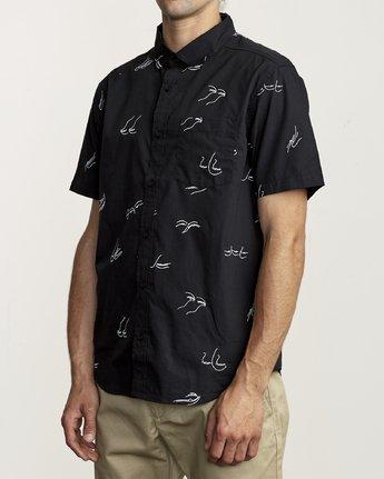 2 Johanna Olk Johanna Gestures - Short Sleeve Shirt for Short Sleeve Shirt Black S1SHRIRVP0 RVCA