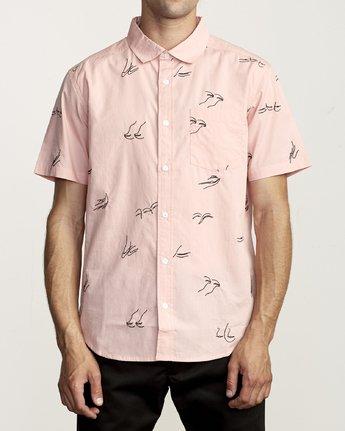 1 Johanna Olk Johanna Gestures - Short Sleeve Shirt for Short Sleeve Shirt Pink S1SHRIRVP0 RVCA