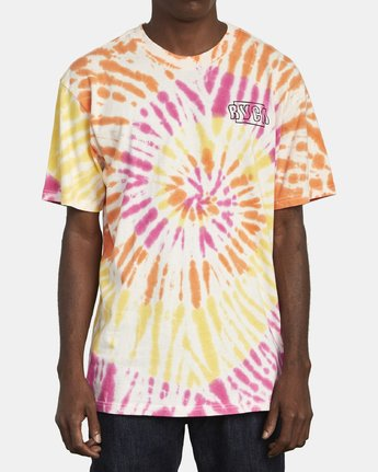 2 Swerve - Tie-Dye T-Shirt for Men  S1SSRERVP0 RVCA