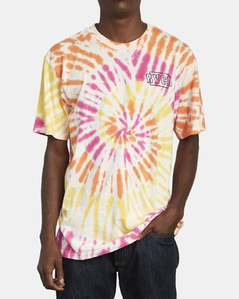 3 Swerve - Tie-Dye T-Shirt for Men  S1SSRERVP0 RVCA