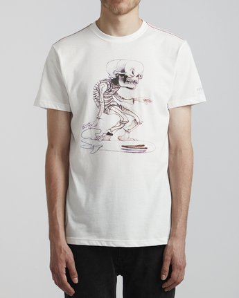 2 Jeff McMillan Skull Surfer - T-Shirt for T-Shirt White S1SSRJRVP0 RVCA