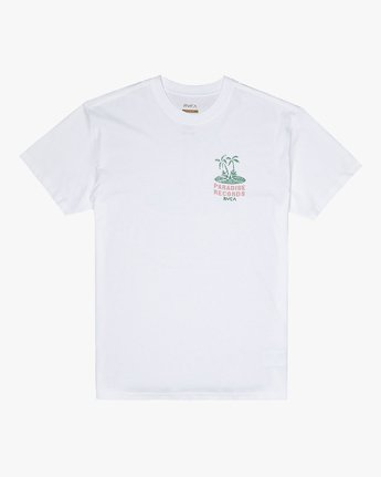 1 Paradise Records - T-Shirt for Men White S1SSRKRVP0 RVCA