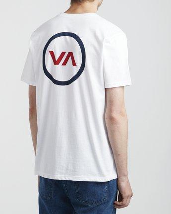 4 VA Mod - T-Shirt for Men White S1SSRQRVP0 RVCA