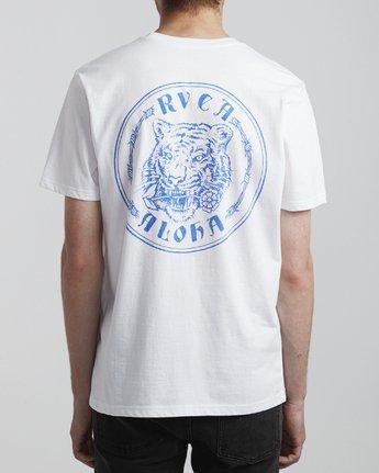 5 Benjamin Jeanjean Alohatiger - T-Shirt pour Homme Blanc S1SSSIRVP0 RVCA