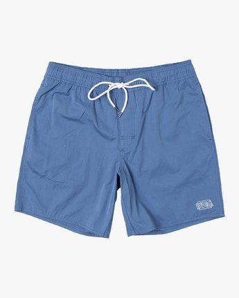 """0 Opposites 17"""" -Elastic Waist Shorts for Men  S1VORBRVP0 RVCA"""