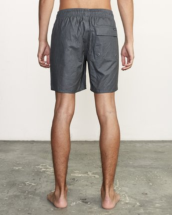 "4 Opposites 17"" - Elastic Waist Shorts for Elastic Waist Shorts Black S1VORBRVP0 RVCA"