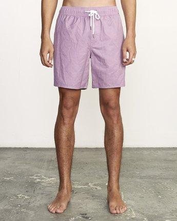 "1 Opposites 17"" - Elastic Waist Shorts for Elastic Waist Shorts Purple S1VORBRVP0 RVCA"
