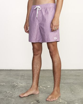 "2 Opposites 17"" - Elastic Waist Shorts for Elastic Waist Shorts Purple S1VORBRVP0 RVCA"