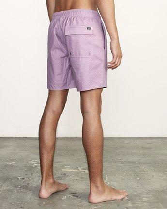 "5 Opposites 17"" - Elastic Waist Shorts for Elastic Waist Shorts Purple S1VORBRVP0 RVCA"