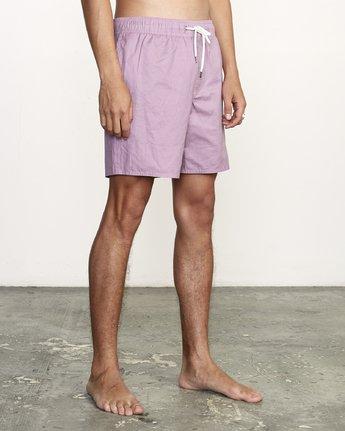 "6 Opposites 17"" - Elastic Waist Shorts for Elastic Waist Shorts Purple S1VORBRVP0 RVCA"