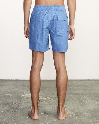 """4 Opposites 17"""" -Elastic Waist Shorts for Men  S1VORBRVP0 RVCA"""