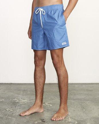 """2 Opposites 17"""" -Elastic Waist Shorts for Men  S1VORBRVP0 RVCA"""