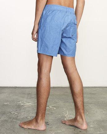 """3 Opposites 17"""" -Elastic Waist Shorts for Men  S1VORBRVP0 RVCA"""