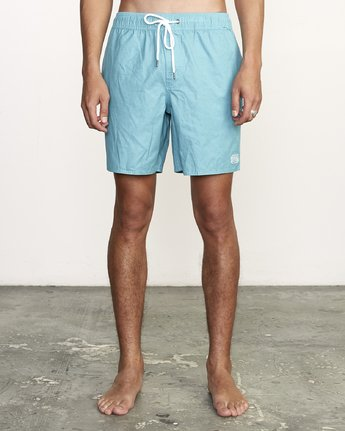 "1 Opposites 17"" - Elastic Waist Shorts for Elastic Waist Shorts  S1VORBRVP0 RVCA"