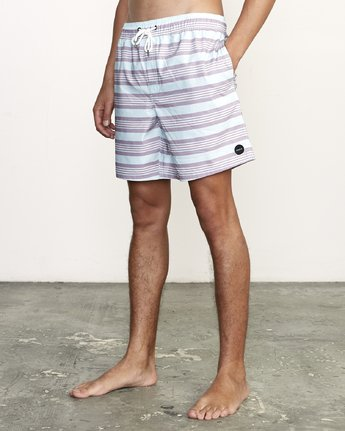 "2 Controller 17"" - Elastic Waist Shorts for Elastic Waist Shorts Blue S1VORCRVP0 RVCA"