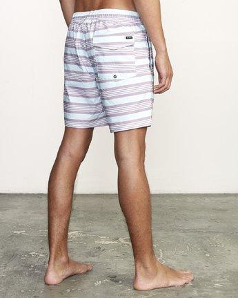 "5 Controller 17"" - Elastic Waist Shorts for Elastic Waist Shorts Blue S1VORCRVP0 RVCA"