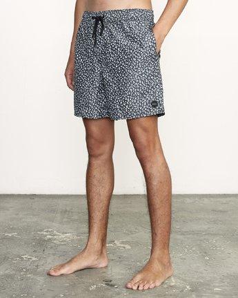 "2 Club 17"" - Elastic Waist Shorts for Elastic Waist Shorts Black S1VORDRVP0 RVCA"