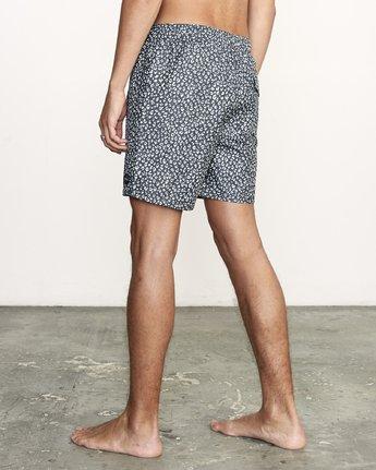 "3 Club 17"" - Elastic Waist Shorts for Elastic Waist Shorts Black S1VORDRVP0 RVCA"