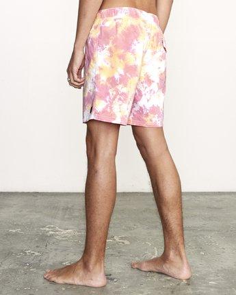 2 Manic Elastic  - Tie-Dye Elastic Waist Short for Men  S1VORERVP0 RVCA