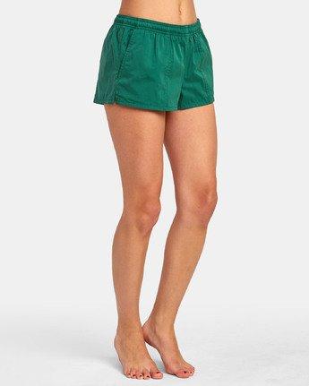 5 Synced Up - Bade-Shorts für Damen Grün S3BSRARVP0 RVCA