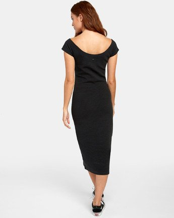 3 Stripped Down Dress - Dress for Women Black S3DRRARVP0 RVCA