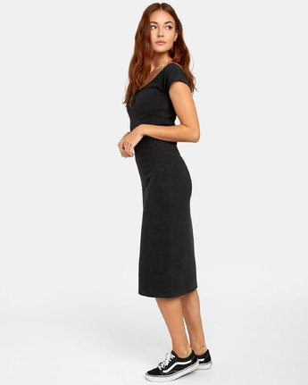 4 Stripped Down Dress - Dress for Women Black S3DRRARVP0 RVCA