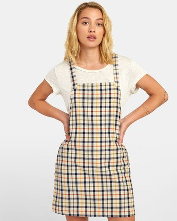 0 Allen Plaid - Plaid Jumper Dress for Women Beige S3DRRBRVP0 RVCA