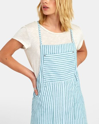 3 River - Striped Overall Style Dress for Women  S3DRRCRVP0 RVCA