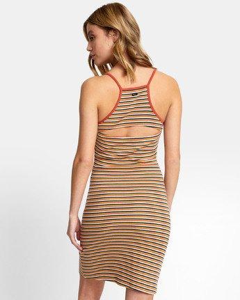 4 Bianca Dress - Robe midi à rayures pour Femme  S3DRRHRVP0 RVCA