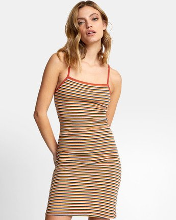 Bianca Dress - Striped Midi Dress for Women  S3DRRHRVP0