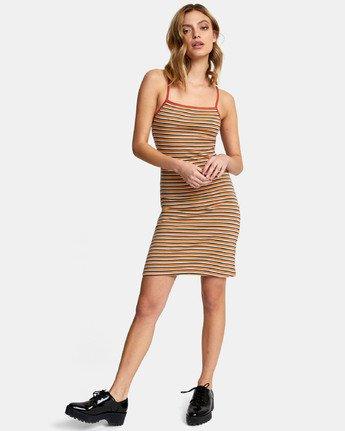 1 Bianca Dress - Robe midi à rayures pour Femme  S3DRRHRVP0 RVCA