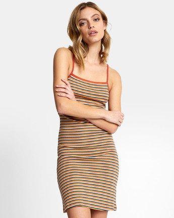 3 Bianca Dress - Robe midi à rayures pour Femme  S3DRRHRVP0 RVCA