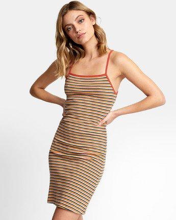5 Bianca Dress - Robe midi à rayures pour Femme  S3DRRHRVP0 RVCA
