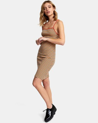 6 Bianca Dress - Robe midi à rayures pour Femme  S3DRRHRVP0 RVCA