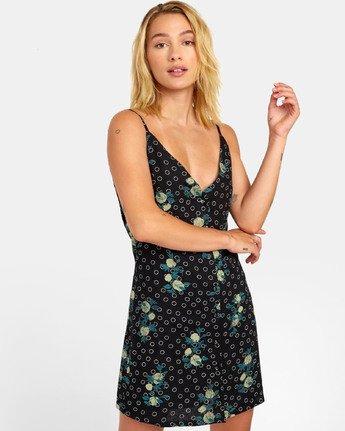 1 Aaron - Printed Mini Dress for Women Black S3DRRNRVP0 RVCA