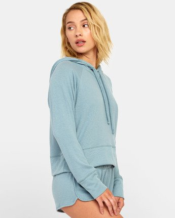 1 Night Off  - Hoodie for Women Grey S3FLRERVP0 RVCA