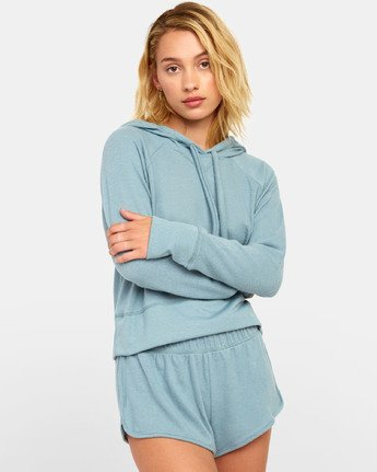 2 Night Off  - Hoodie for Women Grey S3FLRERVP0 RVCA